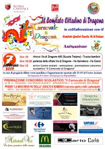 Locandina carnevale di Dragona 7 febbraio 2016