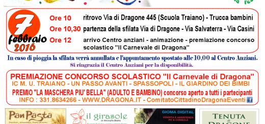 Locandina  carnevale dragona 2016