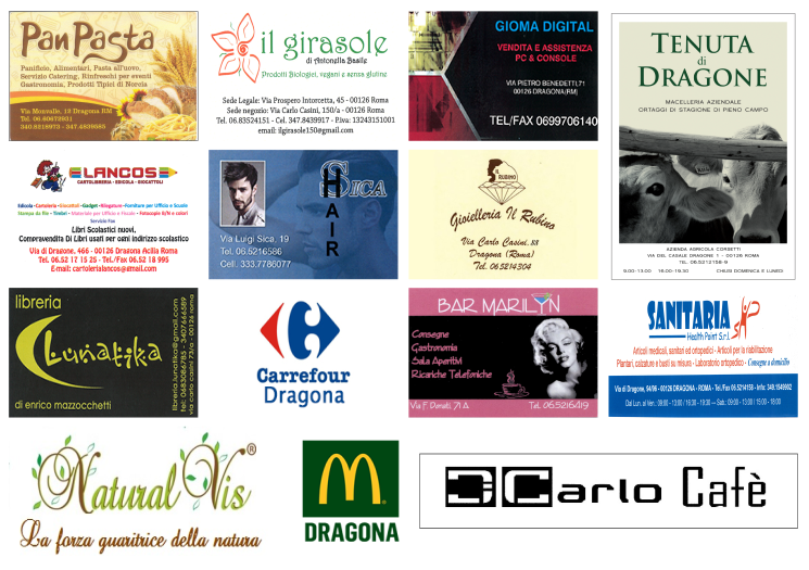 Locandina Sponsor del Carnevale a Dragona 2 febbraio 2016