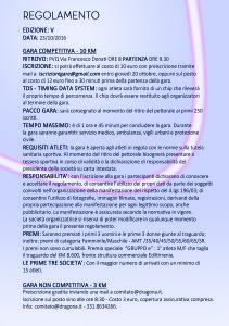 Regolamento gara podistica Vivi Dragona 2016