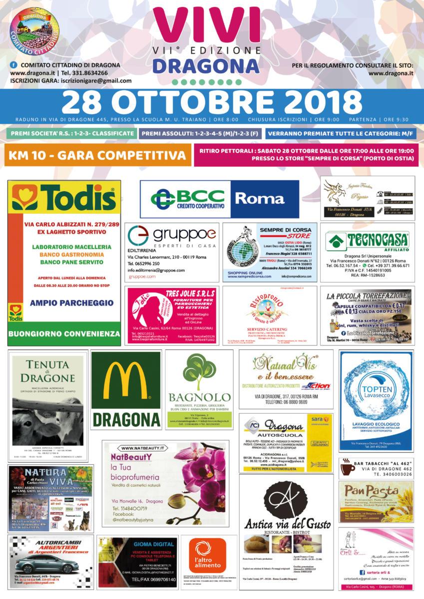 Volantino Vivi Dragona 2018 Sponsor